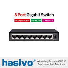 8 Port switch RJ45 Gigabit Ethernet with port 10/100/1000M network