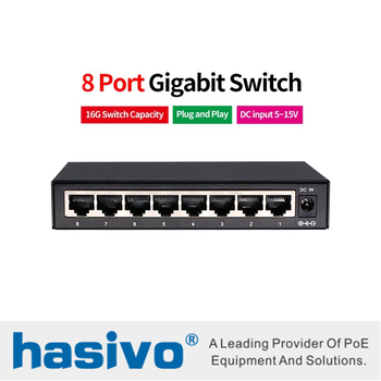 8 Port switch RJ45 Gigabit Ethernet switch with 8 port 10/100/1000M network switch pca 6006 rev a1 belt ethernet port 100% tested perfect