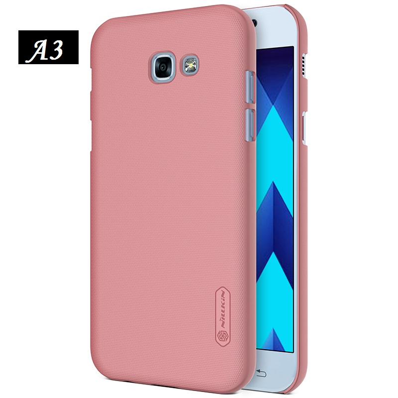 Galleria fotografica NILLKIN for samsung galaxy a3 2017 (4.7 inch) Frosted hard Plastic back cover with Screen Protector for samsung galaxy a3 2017