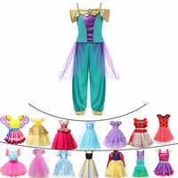 Carnaval chico Cenicienta vestido de fiesta de Navidad niñas princesa Anna vestido Elsa Jasmine Rapunzel cómic Con disfraz de Cosplay de Halloween