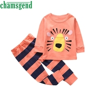 Children S Cartoon Animal Print Top And Trousers Toddler Baby Girls Boys Kids Outfits Clothes T