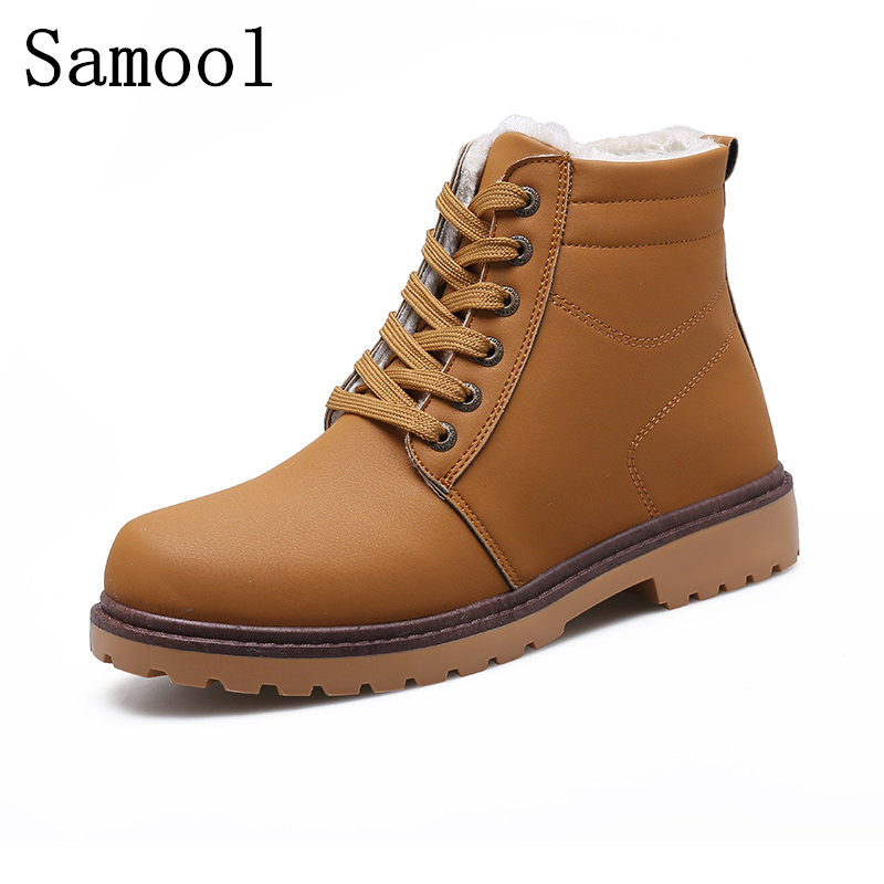 Men Winter Ankle Boots 2017 New PU Leather Men Martin Boots Hot Sell Plus Cotton Snow Boots Warm Winter Men Casual Shoes 2015 men fashion martin boots men pu leather winter ankle boots motorcycle winter men boots
