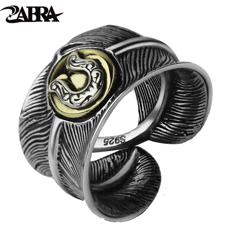 Silver 925 Feather Ring Vintage Retro Style High Quality Gift For Men And Boys Sterling Jewelry Resizeable Horseshoe Rings Silver 925 Feather Ring Vintage Retro Style High Quality Gift For Men And Boys Sterling Jewelry Resizeable Horseshoe Rings
