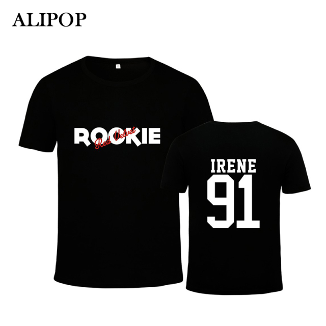 ALIPOP Kpop Korean Fashion Red Velvet Mini 4th Album ROOKIE JOY SeulGi Wendy YERI Cotton Tshirt K-POP T Shirts T-shirt PT366
