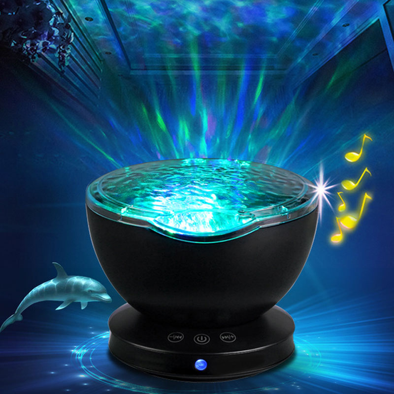 Ambient Star Projector Ocean Wave Sleep Moon Lamp USB Night Light For Baby Light Children Gift Projector Music 2019