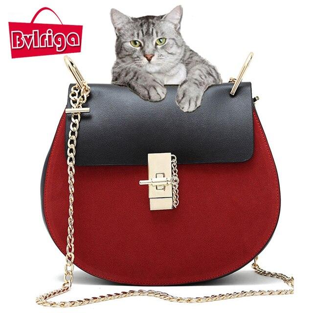 BVLRIGA Women messenger bags chain Serpentine leather shoulder bag luxury handbags women bags designer famous brand high quality