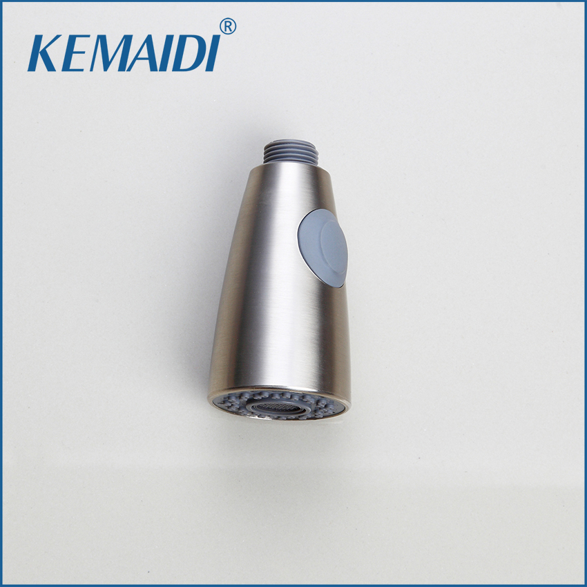 KEMAIDI Two Functions Brushed Nickel Pull Out Spray Kitchen Faucet Replacement Shower Head Sprayer Spout Pull Down Nozzle