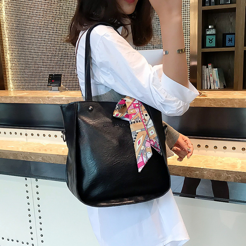 Women Bag Top-Handle Shoulder Bags Female Famous Brand 2018 Women Messenger Bags Handbag Set Solid PU Leather Composite Bag