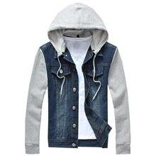 Новая мода мужские флисовые толстовки ковбойская Мужская куртка спортивные костюмы джинсовая куртка мужская джинсовая куртка Мужские толстовки и свитшоты 5XL