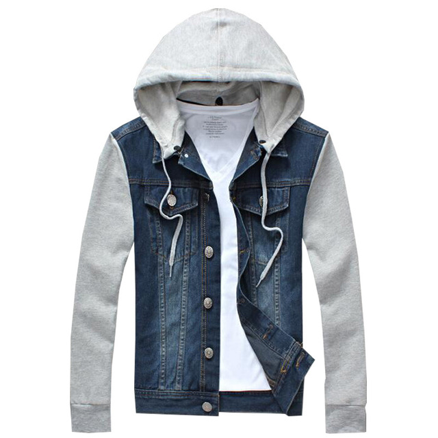 2018 New Fashion Men s Fleece Hoodies Cowboy Men Jacket Tracksuits Denim  Jacket Men Jeans Jacket Men 36aeb3d9ef9b