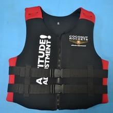 Лучшее качество для взрослых и детей жизни Куртки жизнь спасательный жилет-экономия неопрен выдерживать вес в переменного тока, 50-120 кг серфинг Рыболовный Жилет
