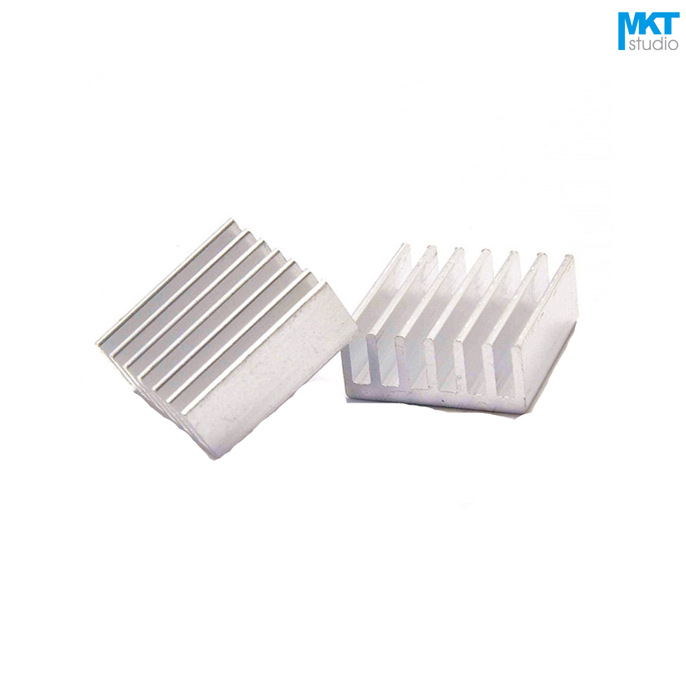 100Pcs 14mmx14mmx6mm Pure Aluminum Cooling Fin Radiator Heat Sink