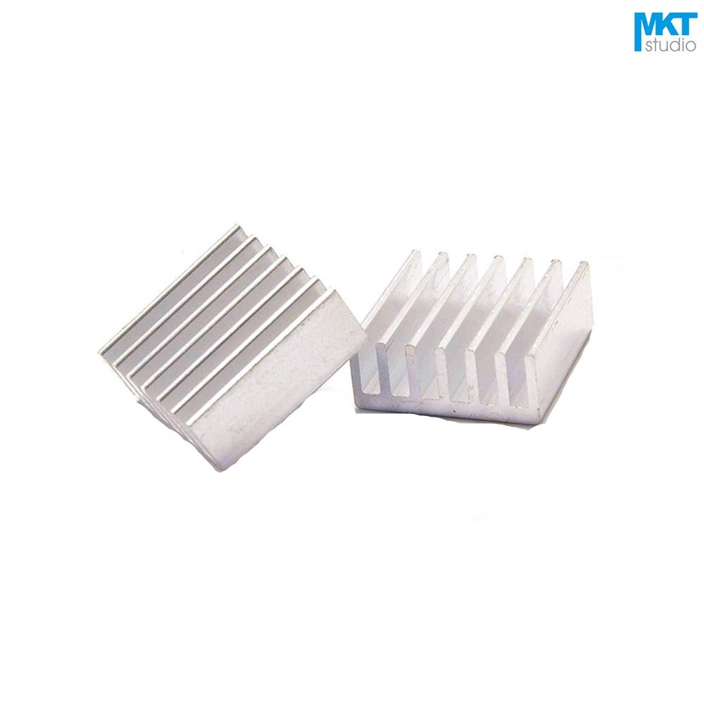 100Pcs 14mmx14mmx6mm Pure Aluminum Cooling Fin Radiator Heat Sink