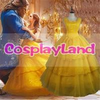 2017 Fantasia Women Halloween Cosplay Beauty And The Beast Adult Princess Belle Costume Wedding Dress