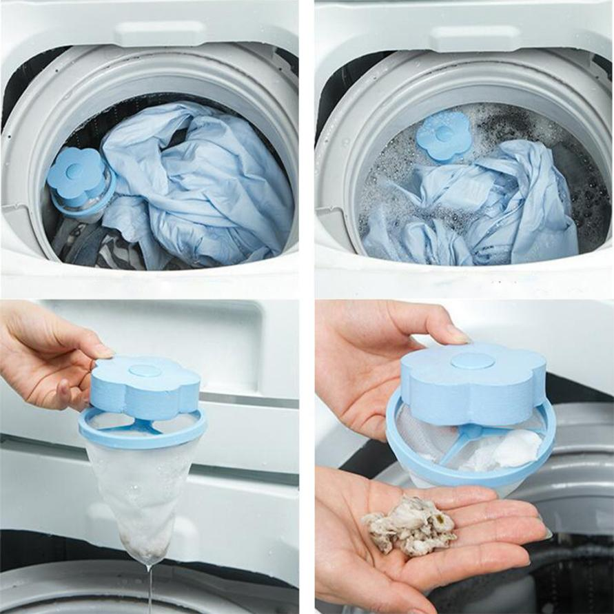 Filter Bag Mesh Filtering Hair Removal Device Wool Floating Washer Style Laundry Cleaning Needed m20