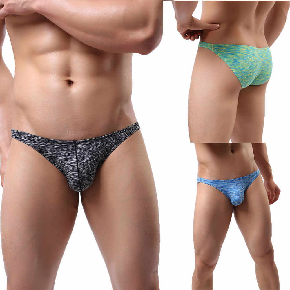 Men's Underwear New Sexy Solid Color Cool Low Waist Spandex Comfortable Breathable Fashion Casual Daily Briefs Four Seasons #Z