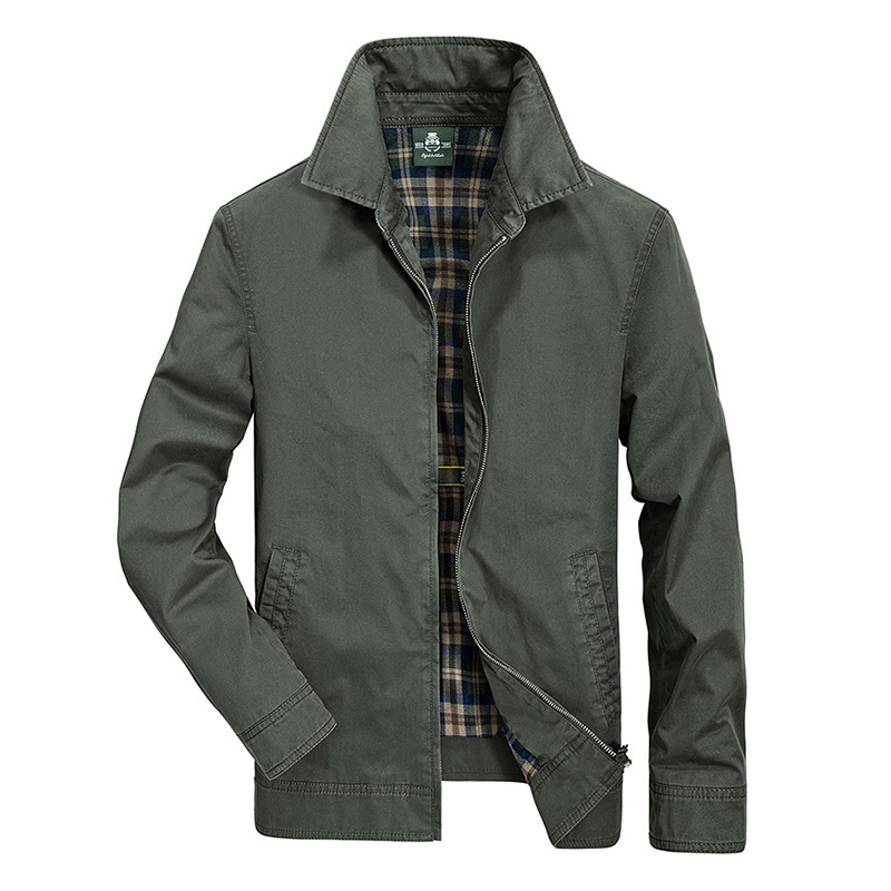 Afs Jeep Casual Fashion Coat Male Solid Slim Mens Spring Autumn Jacket casaco masculino Warm Brand Clothing Cotton Jacket Coat Куртка