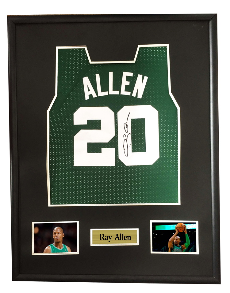 02389648309b Ray Allen signed autographed basketball shirt jersey come with Sa coa  framed Celtics