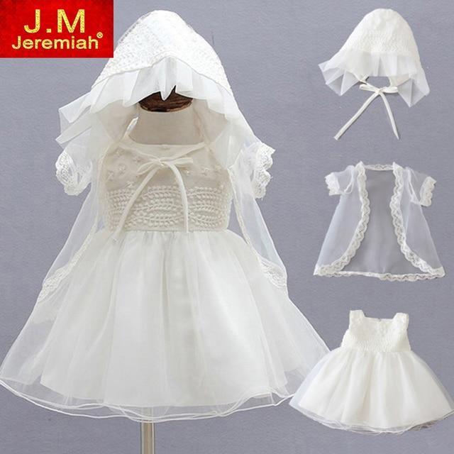 Newborn Christening Gowns 1 Year Baby Girls Birthday Dress Kid Girl Baptism Dress Baby Clothing Ceremonies Party Dresses
