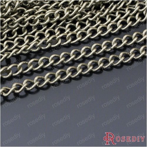 (23557)5 Meter Chain width 3MM Antique Bronze Copper Strong Extended chain  Diy Jewelry