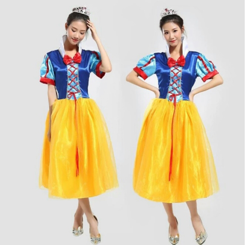 New Halloween fairy tale Snow White Skirt cosplay female adult role playing bar rave party costume cute princess dress