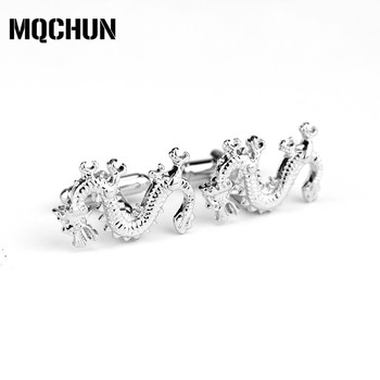 Fashion Accessories Silver and Gold Color Dragon Cufflinks Jewelry Popular Cuff Link for Women Men's Shirt-20 image