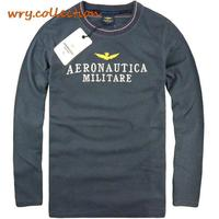 AERONAUTICA MILITARE t shirt,men T shirt with long sleeve ,casual shirt Free Shipping