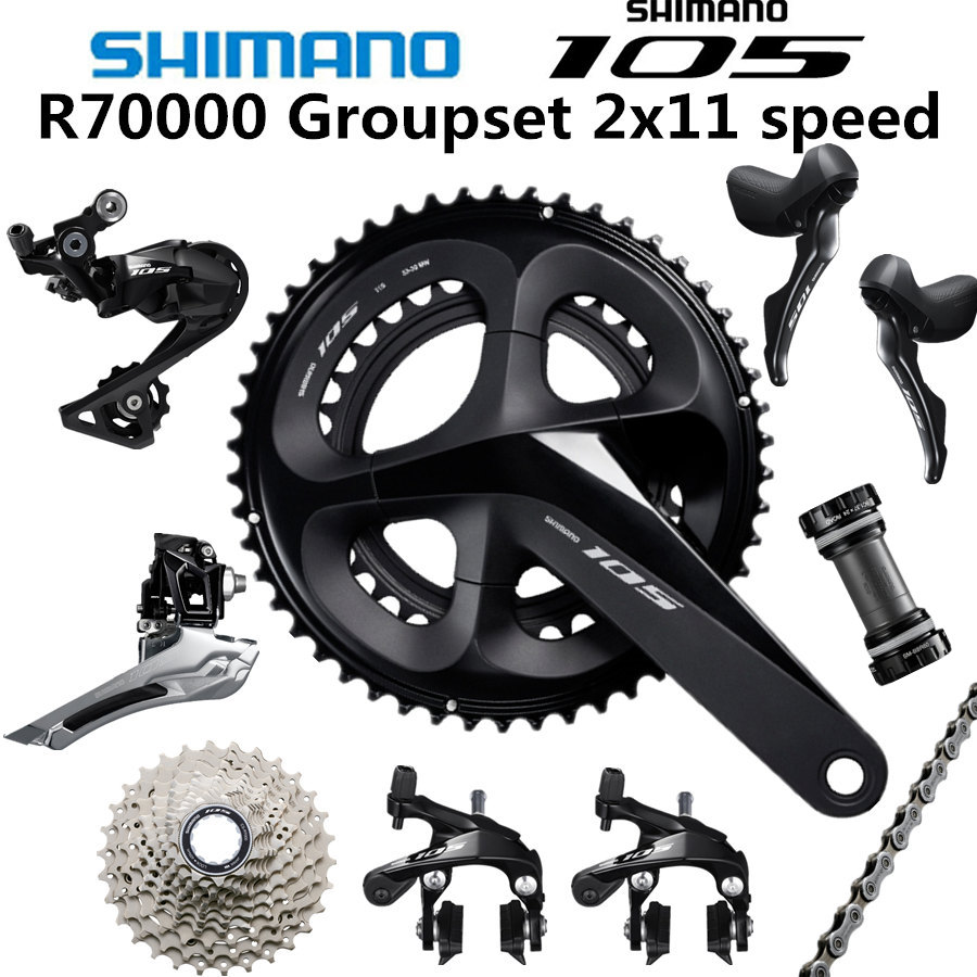 SHIMANO 5800 105 R7000 Groupset R7000 Derailleurs  ROAD Bicycle 50-34 52-36 53-39T 165 170 172.5 175MM 12-25 11-28 30T 32T34T feu led tmax 530