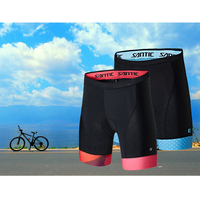 Santic Women Cycling 1 4 Padded Shorts Coolmax 4D Pad Moon Texture Imported CARVICO Fabric Shockproof