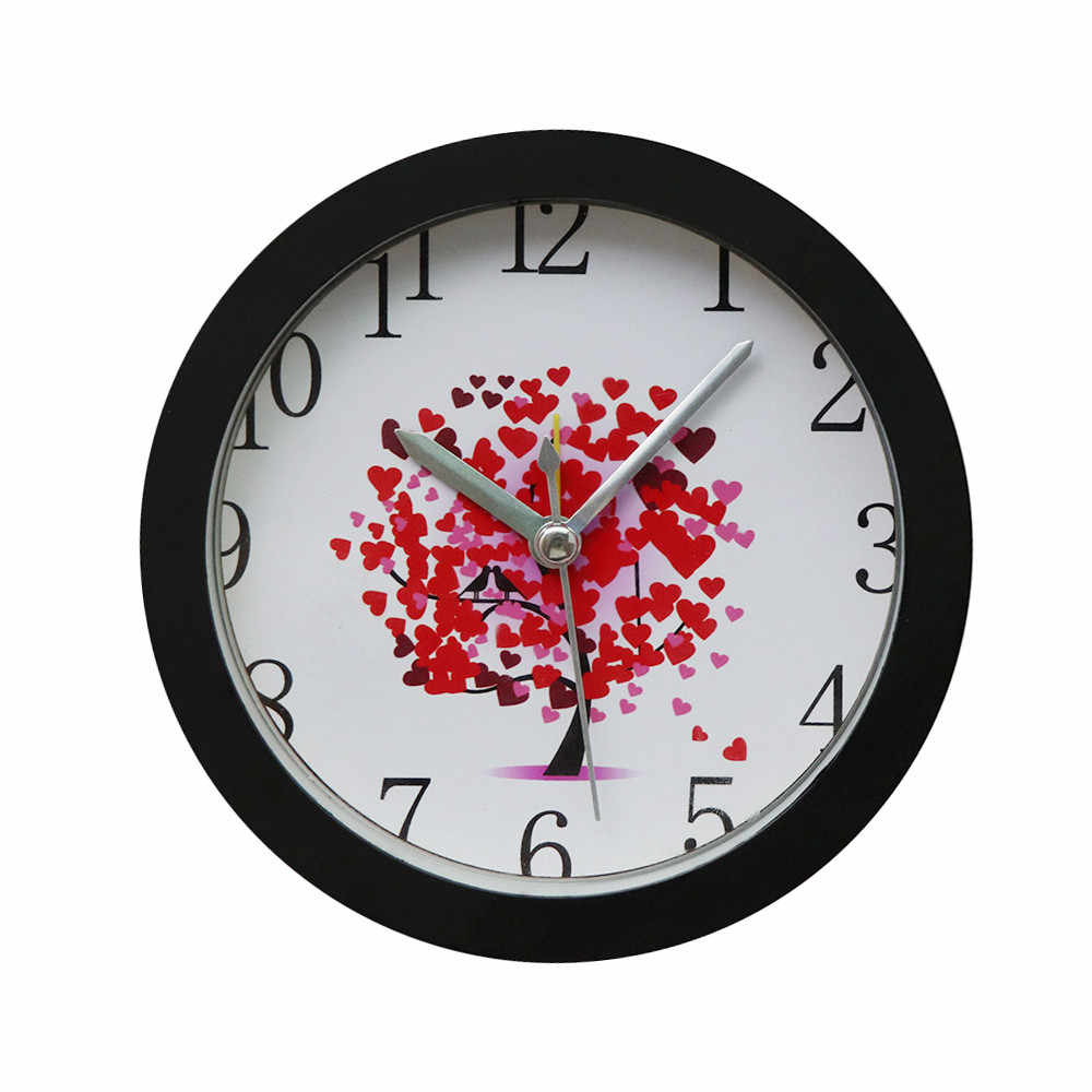 2019 HOT sale Rose Petal Silent Sweep Modern Graceful Bell Desk Creative Digital Alarm Clock decoration Dropshipping 314Z