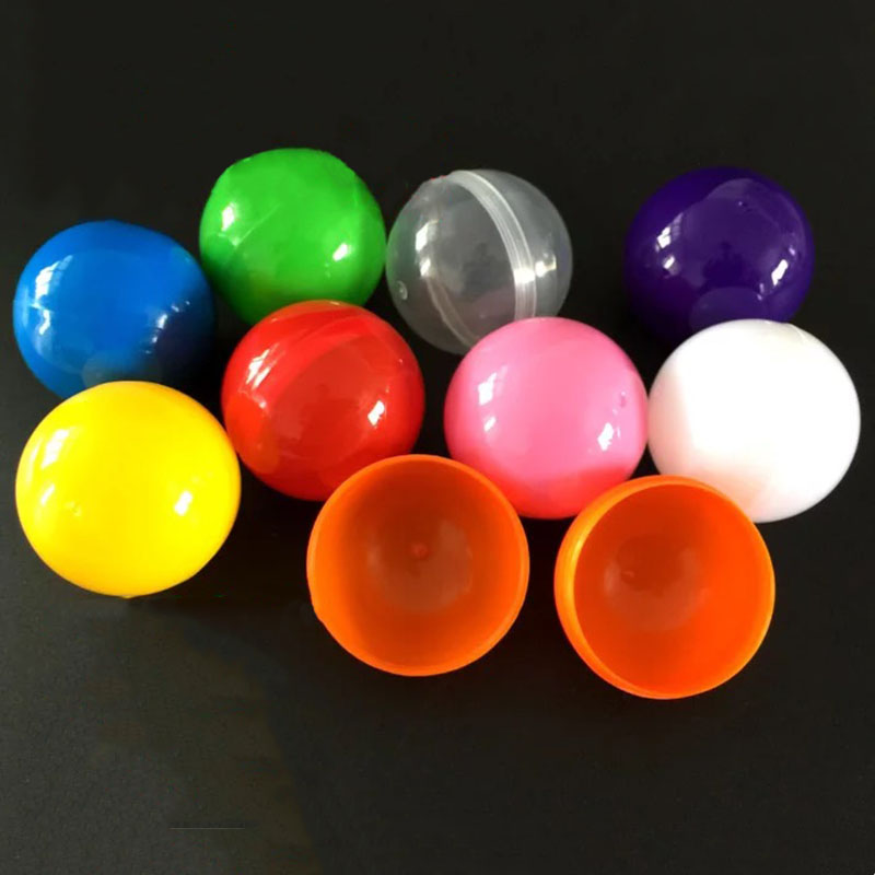 50mm Empty Plastic Toy Capsules For Vending Plastic Toys Ball 100pcs/Lot  Lottery Draw Ball Surprise Balls Free Shipping