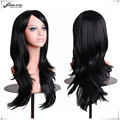 "SHOWSTAR 28"" Hatsune Miku Wig Black Long Curly Wave Hair Synthetic Wig for Black Women Peluca Cosplay Perruque Peruca"