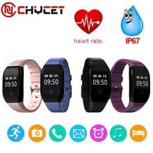 Chycet умный Браслет Bluetooth Smart Band Водонепроницаемый сердечного ритма Мониторы браслет Фитнес трекер для смартфонов IOS и Android