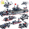 763PCS 8in1 Military Warship Soldier Building Blocks Compatible Legoed City Army Weapon DIY Boat Bricks Educational