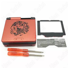 2sets Chinese Dragon Full Housing Shell For Nintendo Game Boy Advance GBA SP Cover Case