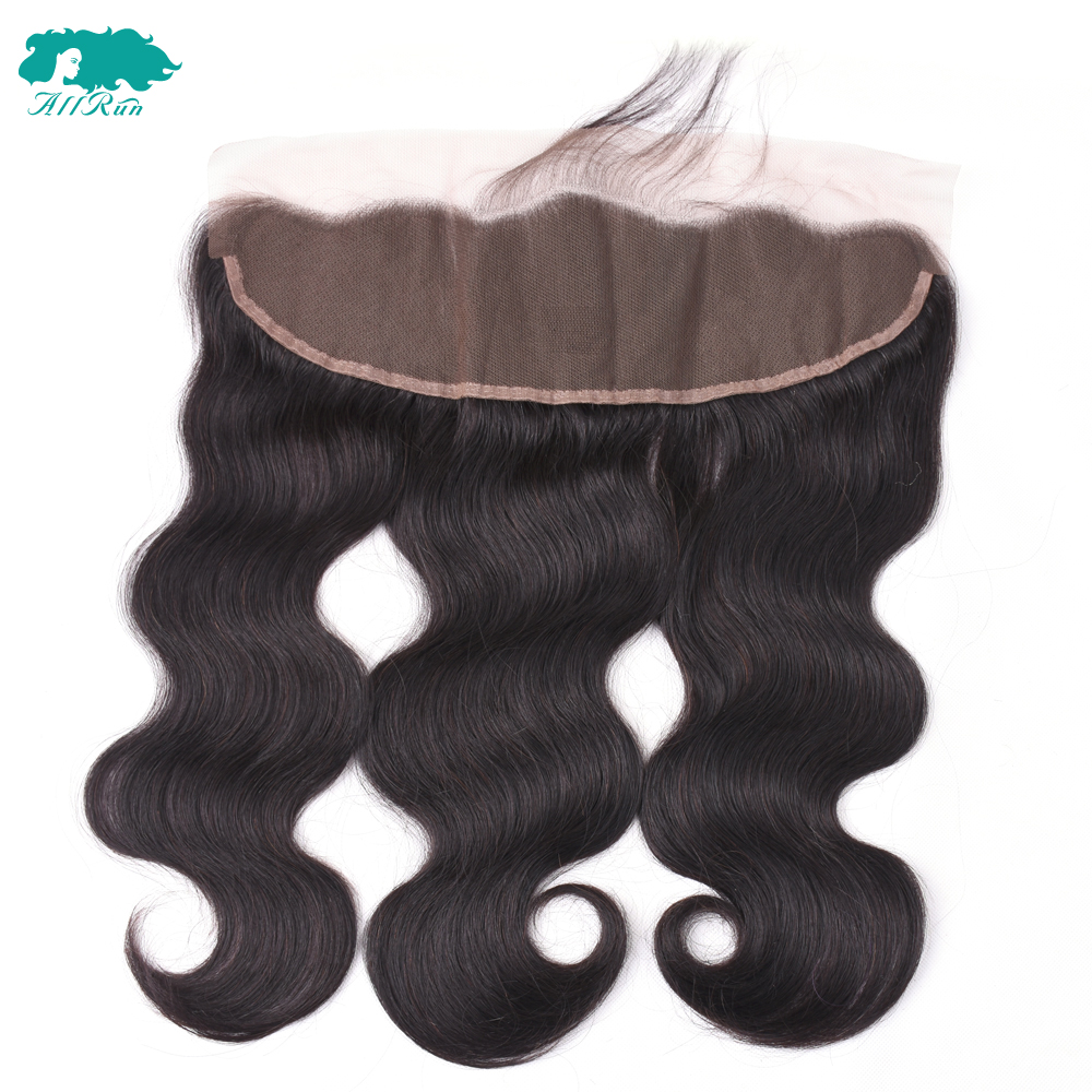 Allrun Brazilian Body Wave Lace Frontal One Piece 13*4 Free Part Ear to Ear Non Remy Human Hair 8-20inch Free Shipping