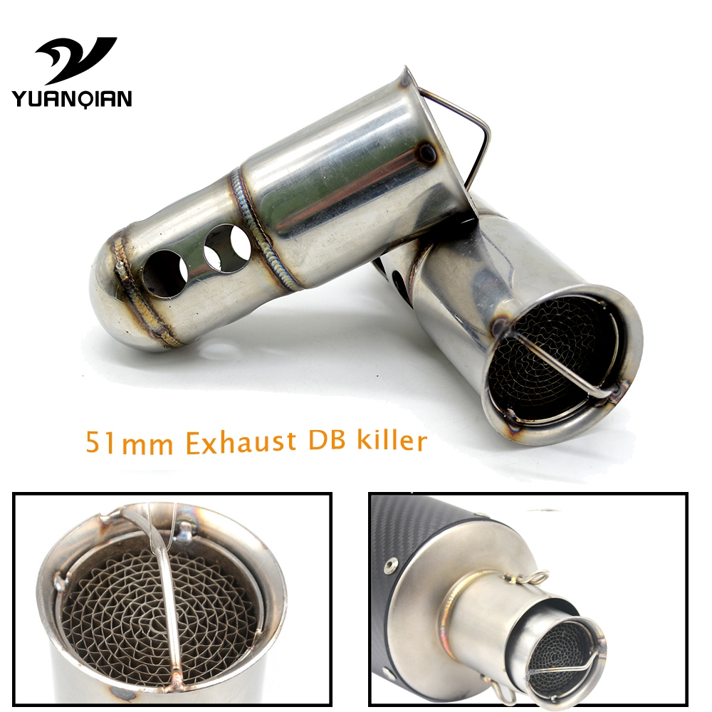 Univeral Racing Moto Exhaust Pipe Muffler Scooter Motorbike Modified Muffler Pipe DB Killer Fit to 51mm Exhaust Pipe Motorcycle