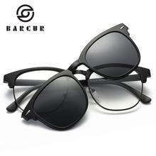 цена на  BARCUR CLASSIC TR90 Sunglasses Men Women Brand Designer Glasses G15 Coating Mirror Sun Glasses Fashion Oculos De Sol