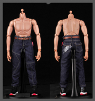 1 6 Scale Mens Fashionable Print Jeans Pants For Wolverine And Other 12 Inches Male Action