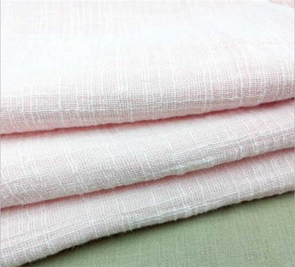 Double crepe cotton cloth 100% cotton woven fabric for women's skirt and shirt