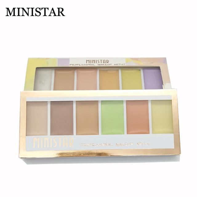 US $3 75 |MINISTAR 6 Colors Pro Concealer Palette Invisible Pore Wrinkle  Cover Minerals Foundation Brightener Base Makeup Face Corrector-in  Concealer