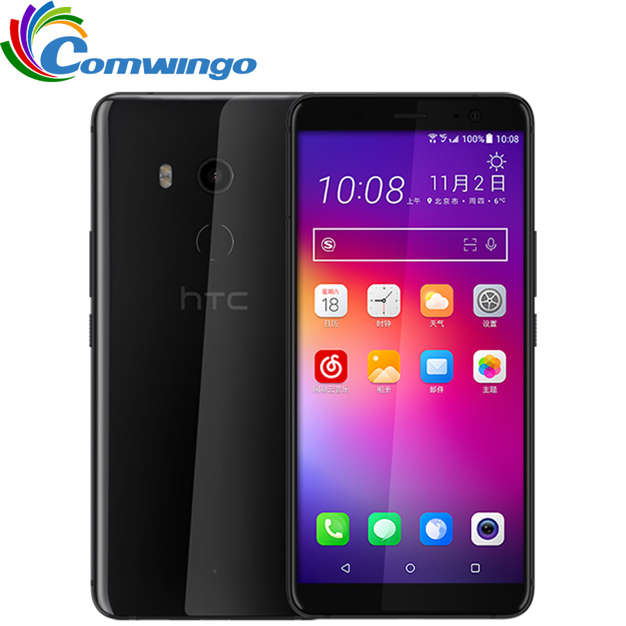 Original HTC U11 Plus 6GB 128G Mobile Phone Snapdragon 835 Waterproof Octa Core 6.0inch 1440x2880px Android 8.0 IP68 Dustproof