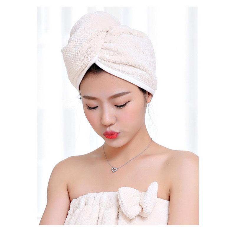 GIANTEX Japanese Polyester Cotton Women Bathroom Super Absorbent Quick-drying Bath Towel Hair Dry Cap Salon Towel 23x60cm U1031 14