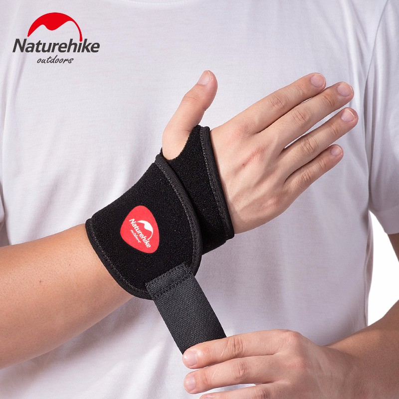 Naturehike Brand Adjustable Wrist Support Wrist Joint Brace Black Nylon Sport Wristband Use For Ball Games Running Fitness