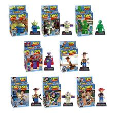 Toys Story 4 Buzz Lightyear Woody Jessie Alien Ducky Bo Peep Bonnie Duke Caboom Building Blocks Model Figures Movie Toy