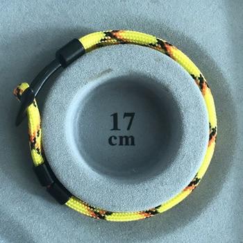 Anchor Bracelet Men Charm Survival Rope Chain Bracelets Paracord Fashion Black Color Anchor Bracelet Male Wrap Metal Sport Hooks 2