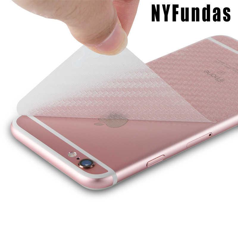 NYFundas z powrotem z włókna węglowego folia ochronna na ekran Apple iPhone 6 6 S Plus 7 8 5 S 5S SE X 4S XS Max XR 10 Pelicula akcesoria
