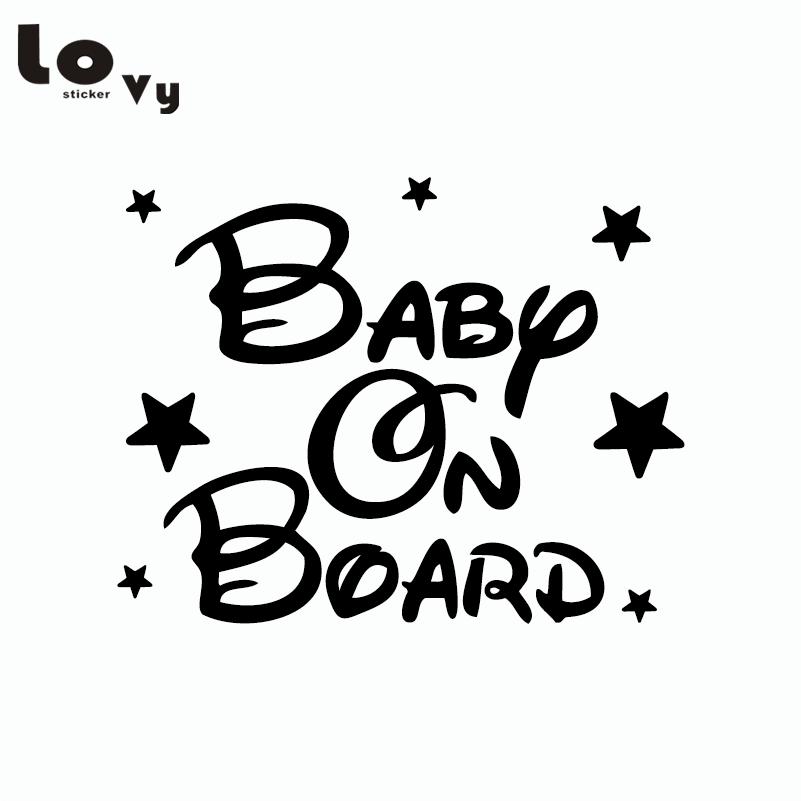 Creative Baby On Board Car Sticker Funny Warning Sign Car