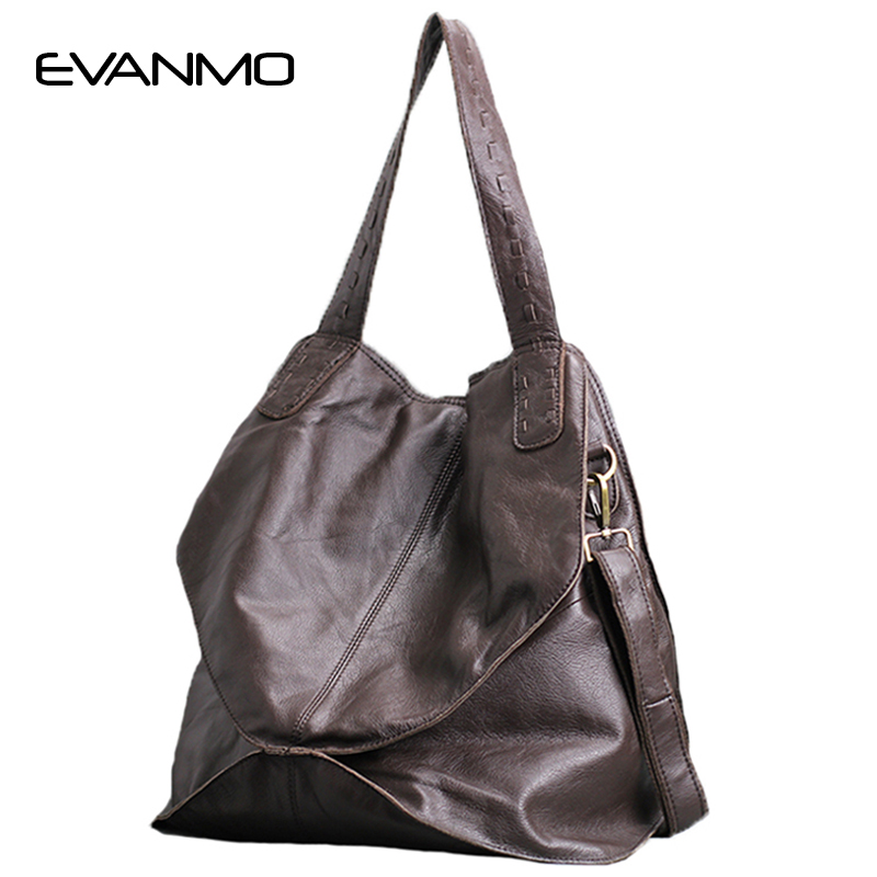2018 Hot Sale Women Genuine Leather Shoulder Bag Large Capacity New Diamond Design Lady Cowhide Leather Crossbody Tote Bag in Shoulder Bags from Luggage Bags