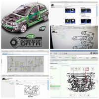2019 el más nuevo Software de coche vívido Taller de datos 10,20 mantenimiento de alambre de coche Diagrama de servicio de coche 10,2 de datos a 12v reparación de automóviles